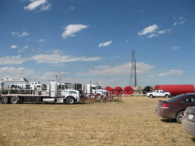 Fracking site close to Platteville, Colorado