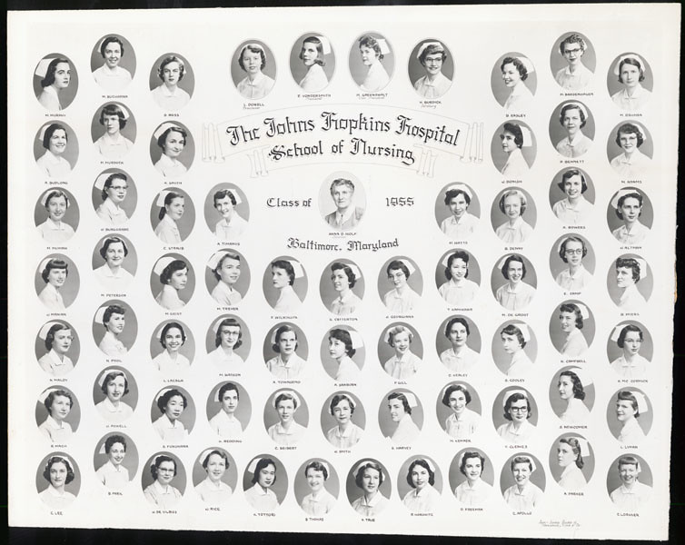 [Johns Hopkins Hospital School of Nursing, class of 1955