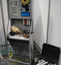 star wars celebration v random droid and lightsaber parts by doug kline [ 768 x 1024 Pixel ]