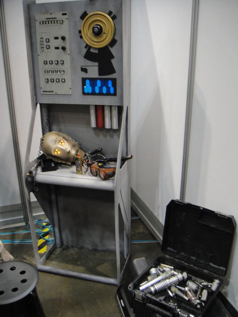 medium resolution of  star wars celebration v random droid and lightsaber parts by doug kline