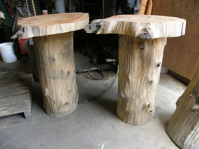 organic natural wood pedestal