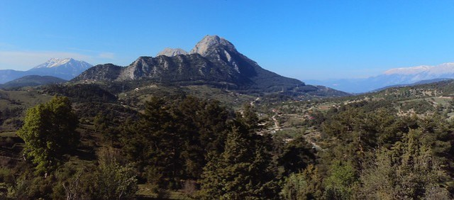 Our two-day tour circled Ovacık Mountain, the one in the center of this photo by bryandkeith on flickr