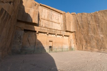 Dit is de grafkamer van Artaxerxes de tweede, een koning die na Darius aan de macht kwam.