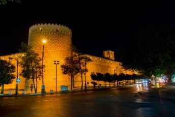 Na aankomst 's avonds meteen even wat fotootjes gemaakt van de Karim Khan Citadel.