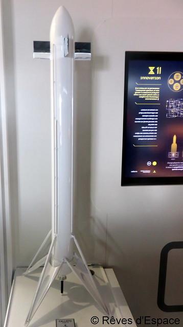 Au Salon du Bourget 2017, sur le stand du CNES, le projet de lanceur réutilisable Callisto