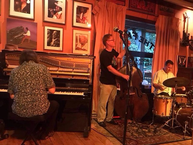 Jazz sessions at the Falcon Underground- with Doug Weiss, Joe Carozza and myself