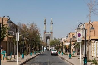 Niet veel verder staat deze Jameh-Moskee (hé dat rijmt).