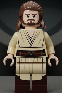 Lego Star Wars Qui Gon Jinn Icon : Qui-Gon, Custom, (Front), Flickr