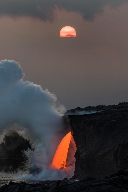 Lava Tube Sunset