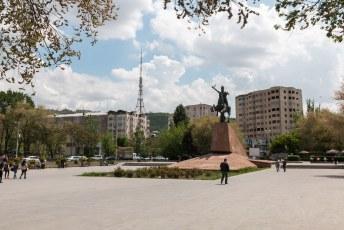 Mijn laatste rondje door Jerevan, eerst langs het standbeeld van Vardan Mamikonyan een militair uit de 5de eeuw.