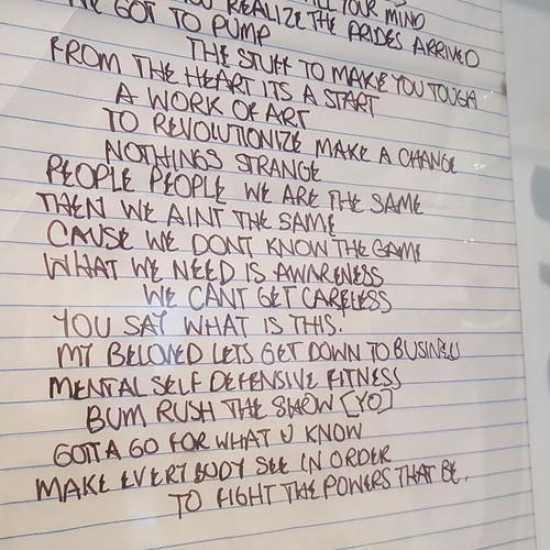 Fight the Power lyrics at the Newseum