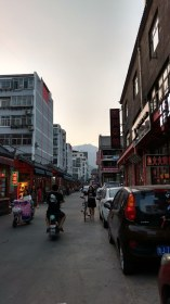 Food streets with Mount Tai in background