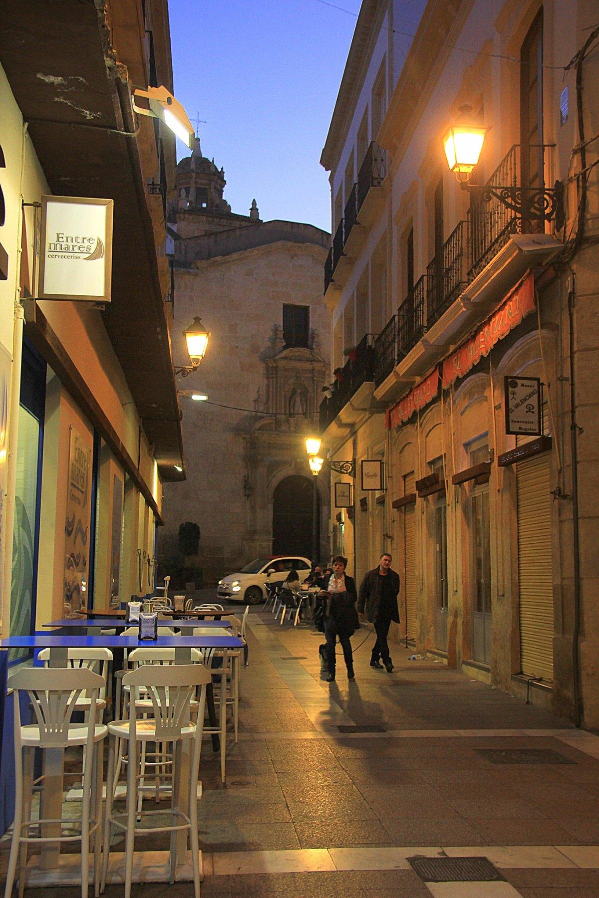 Late evening Almeria city alleys