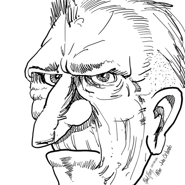 Leland Green study of John Orlando character