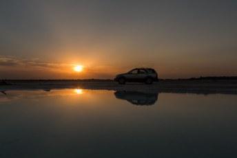 Wij wachtten daar nog even op de zonsondergang voor dit plaatje.