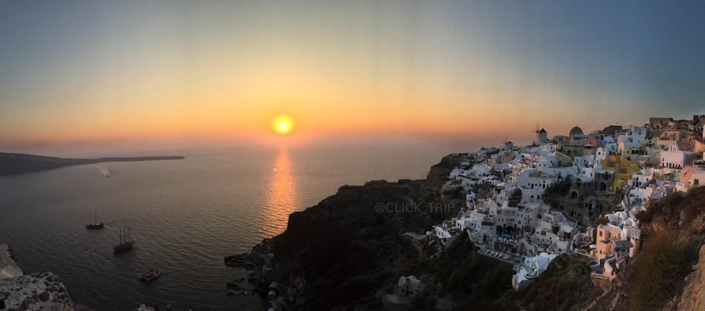 Maravilloso atardecer en Oia | Islas Griegas | ClickTrip.ES
