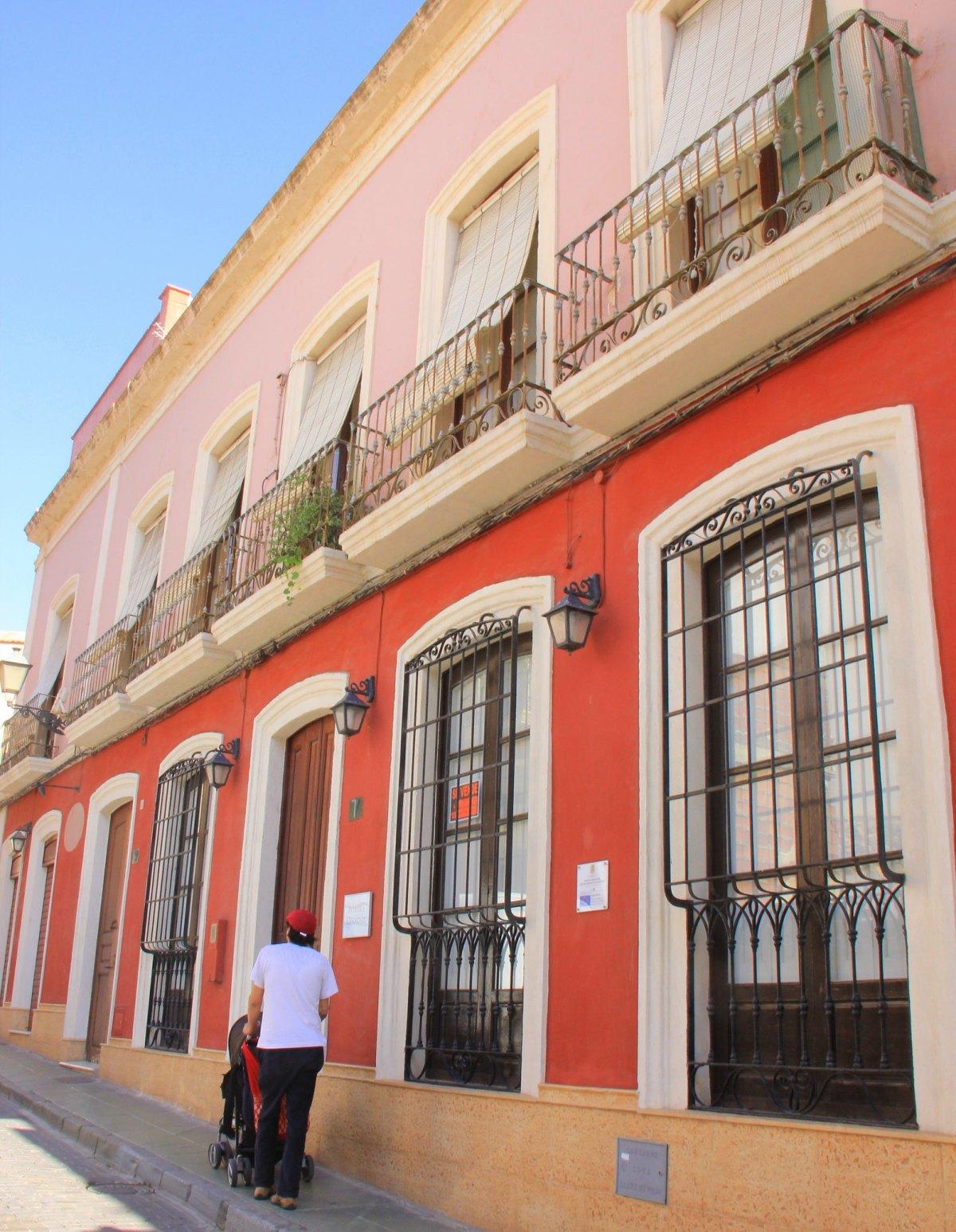 Sun-drenched Almeria city lanes