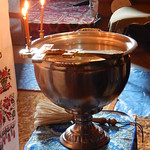 2016 11 03 Eve of the feast in honor of the Theotokos of Kazan. Holy water font