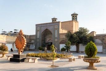 Tot aan deze Vakil Moskee. Alles was gesloten toen wij er waren, want Muharram.