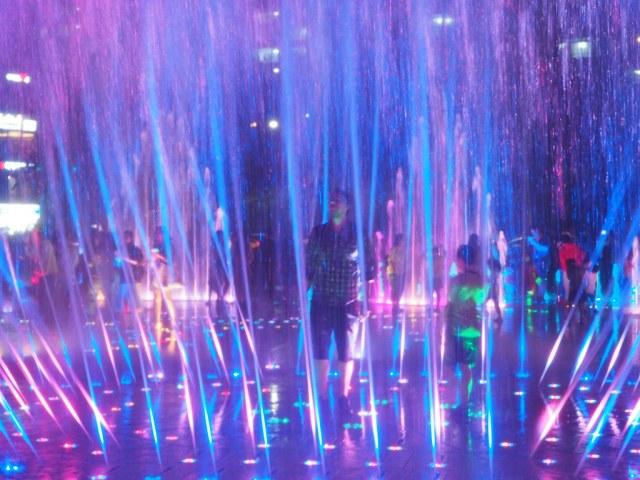 Fountain light show at Dadaepo Beach