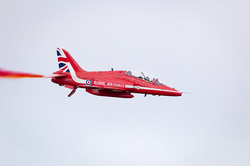 RAF Display Team the Red Arrows Fairford International Air Tattoo 2017 in their Hawk T1 Jet Trainers