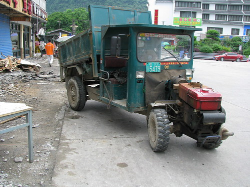 In India they call this the 'jugaad'- a vehicle made from cut and paste technology!