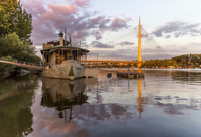 River Sava Reflection