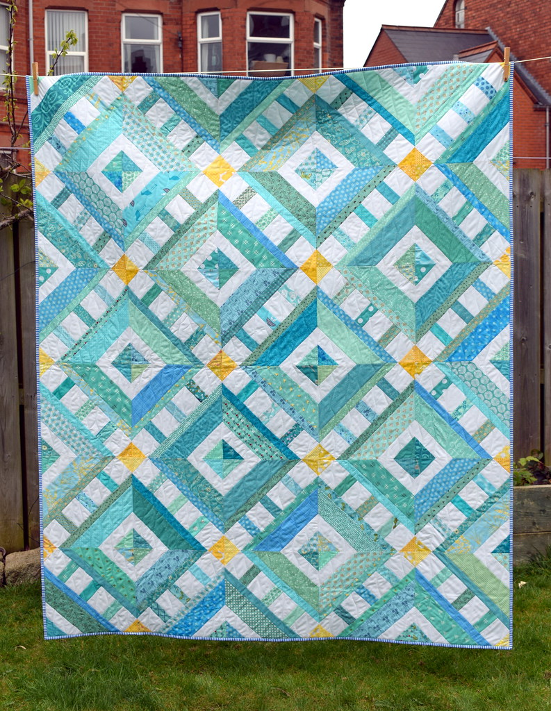 Sun, Sea and Sky Quilt (Quilt Now Magazine August17)