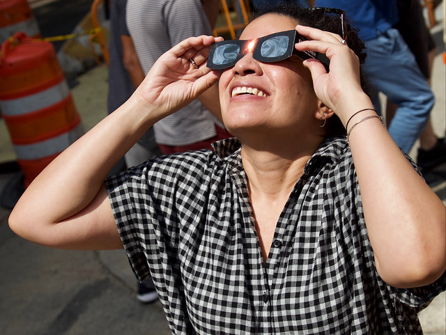 Solar Eclipse 2017, Washington Square Park, New York City