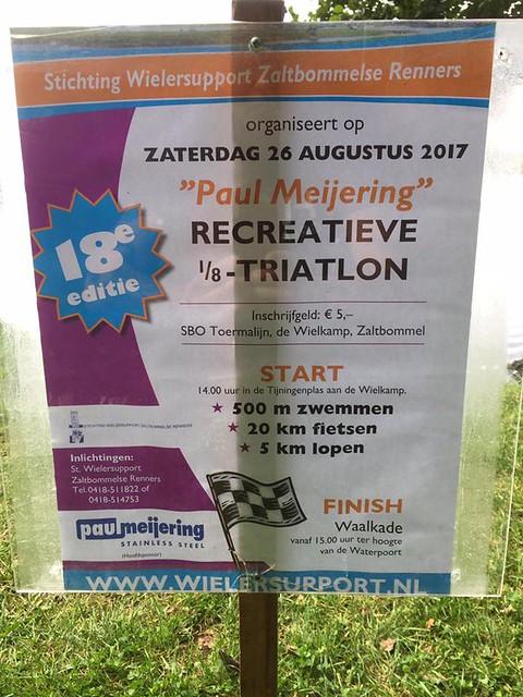 Paul Meijering 1/8e triatlon Zaltbommel