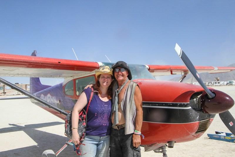 Rusty Blazenhoff and Purple Haze at 88NV aka Black Rock City Municipal Airport