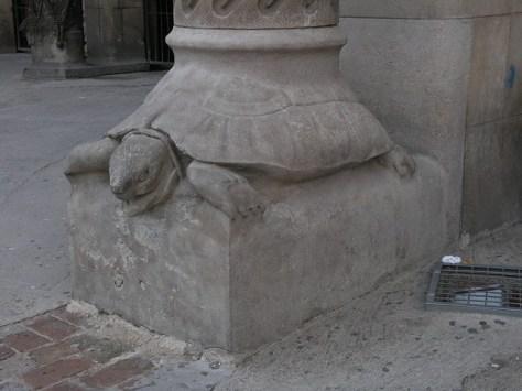 Barcelona Sagrada Familia facade colum base