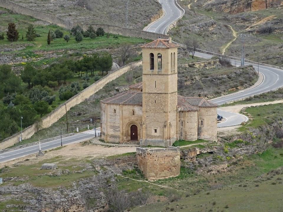 Segovia exterior Iglesia de la Vera Cruz