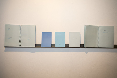 "MAGALI DUZANT A Light Blue Desire, Artist book  Blue is generally outside of the first 5 colors to be named in a language, appearing much later than black, white, or red (as well as green and yellow). If we are late to naming a color how do we use it, how do we embody it with human characteristics? Blue is vast and dense, describing everything from hard work to a certain type of melancholy, erotic films to cardinal directions and on to a certain method of lying. A Light Blue Desire is an artist book mapping the amorphous definitions of blue across languages.   <a href=""http://www.magaliduzant.com"" rel=""nofollow"">www.magaliduzant.com</a>"