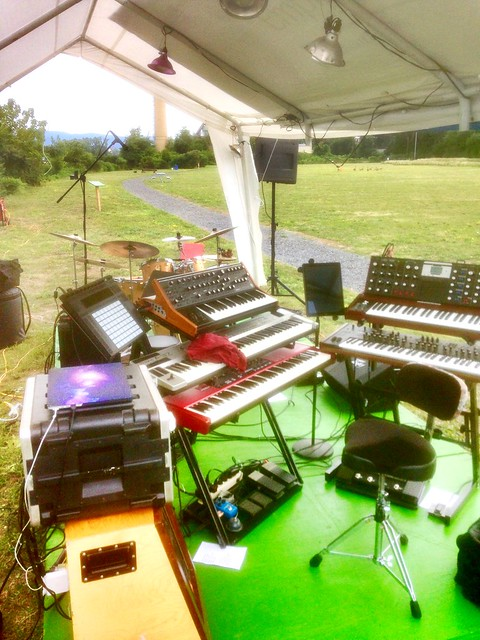 Setup for the 2017 Newburgh Jazz Series - ready to rock!