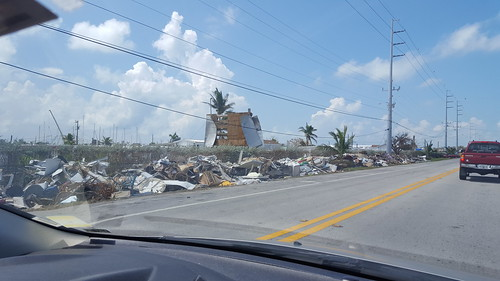 Damage and debris in Marathon