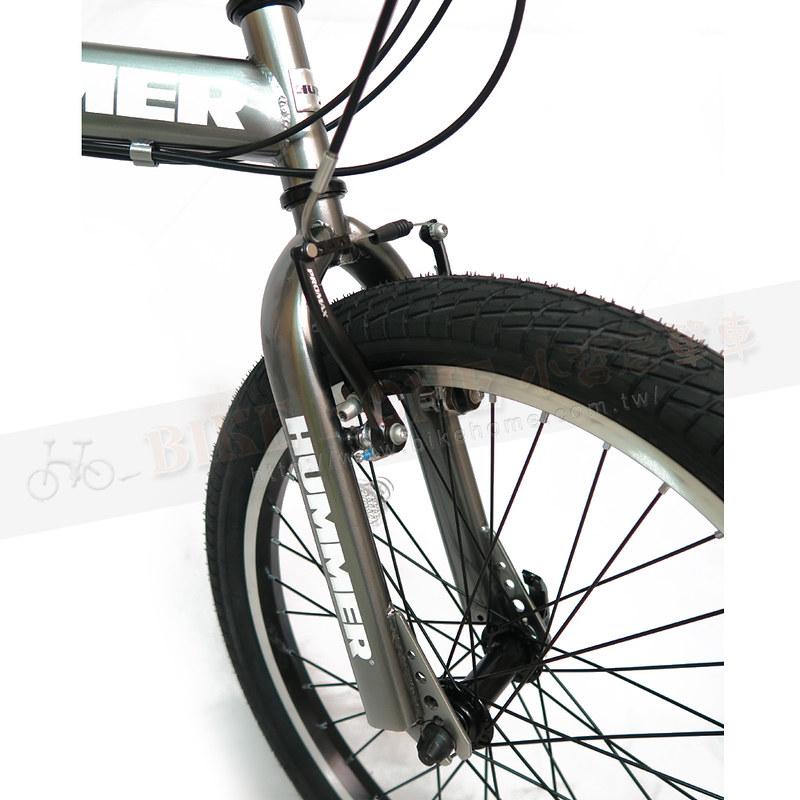 Bikehome小居單車 - HUMMER悍馬 HM2021 20吋21速高碳鋼摺疊車-鈦灰