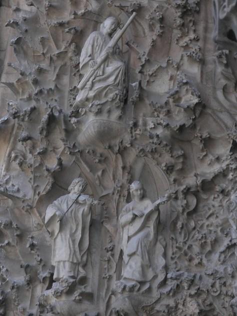 Barcelona Sagrada Familia facade detail4