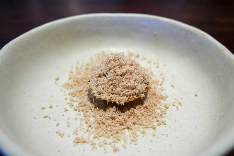 Foie Gras, Lychee, Pine Nut, Riesling Jelly