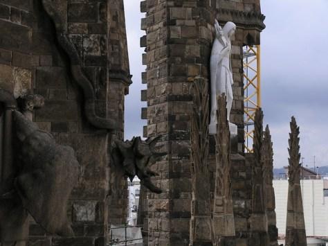 Barcelona Sagrada Familia tower detail
