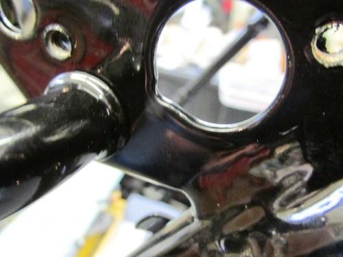 Lock Orientation Notch in Sub-Frame Hole