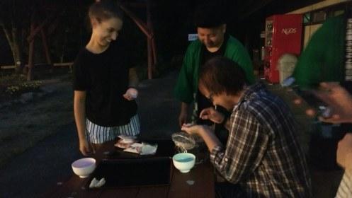 Me schooling everyone at gyoza making