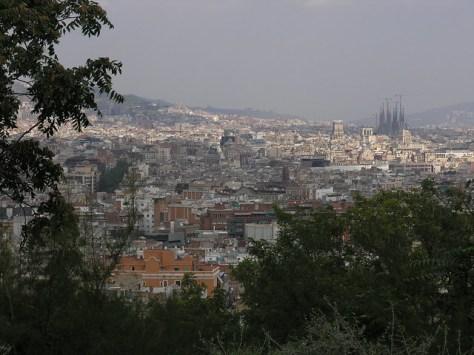Barcelona vista from mount Juich