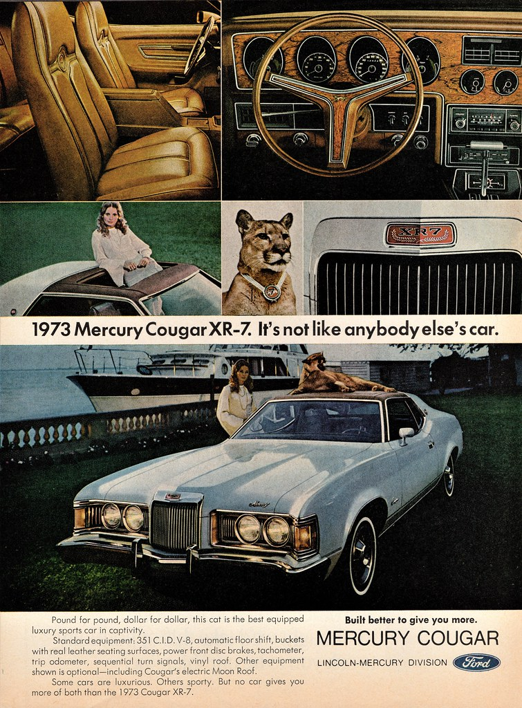 1973 Mercury Cougar : mercury, cougar, Mercury, Cougar, Alden, Jewell, Flickr
