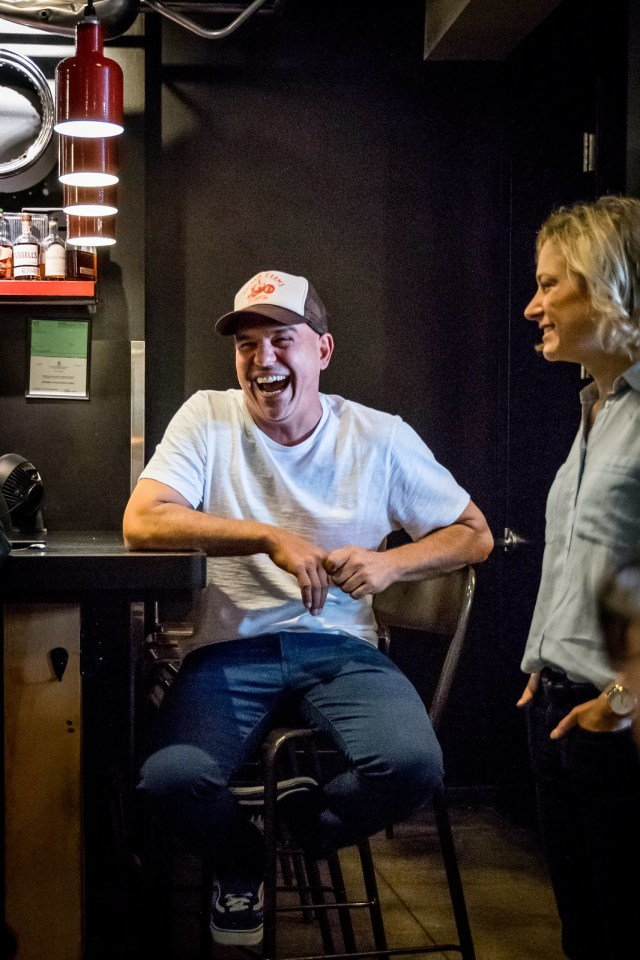 chef Michael Symon had a smile on his face the entire time