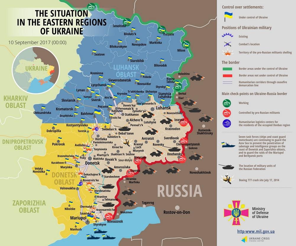 Ion Petrescu » HARTĂ MILITARĂ, cu situaţia din Donbas