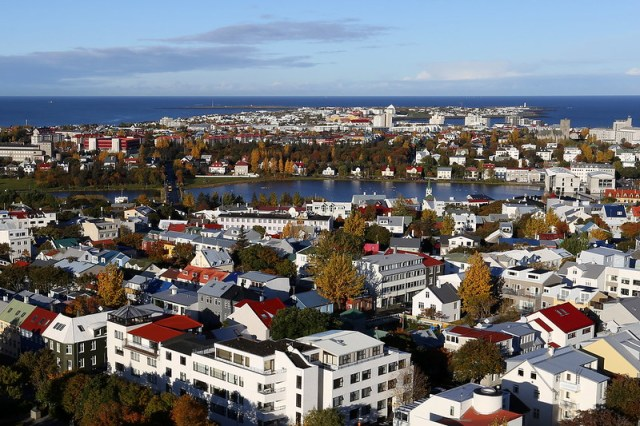 Downtown Reykjavik.