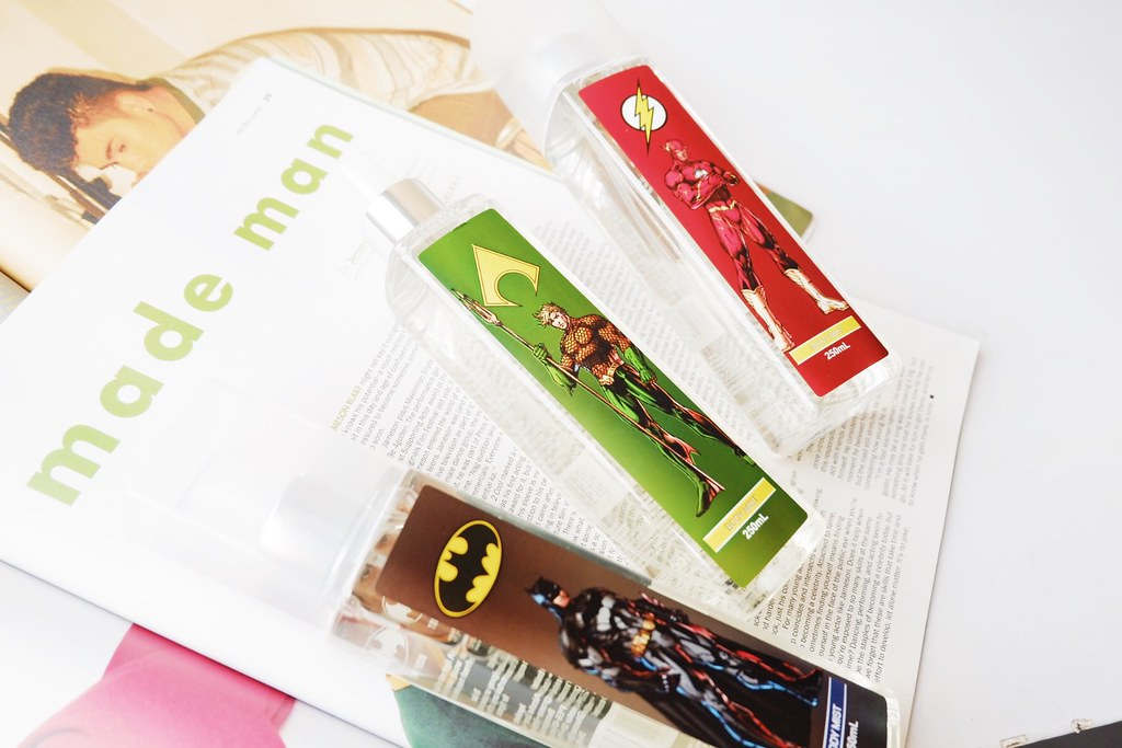 Tupperware Justice League Body Mists