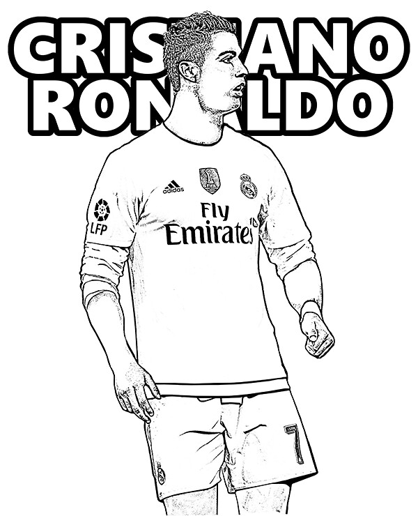 Cristiano Ronaldo Coloring Pages : cristiano, ronaldo, coloring, pages, Cristiano-ronaldo-coloring-page, Football, Player, Flickr