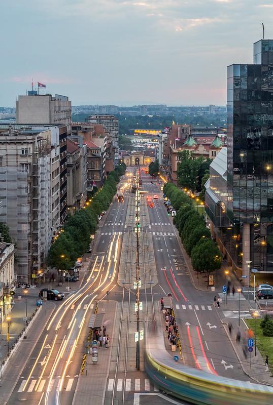 Evening in Nemanjina Street
